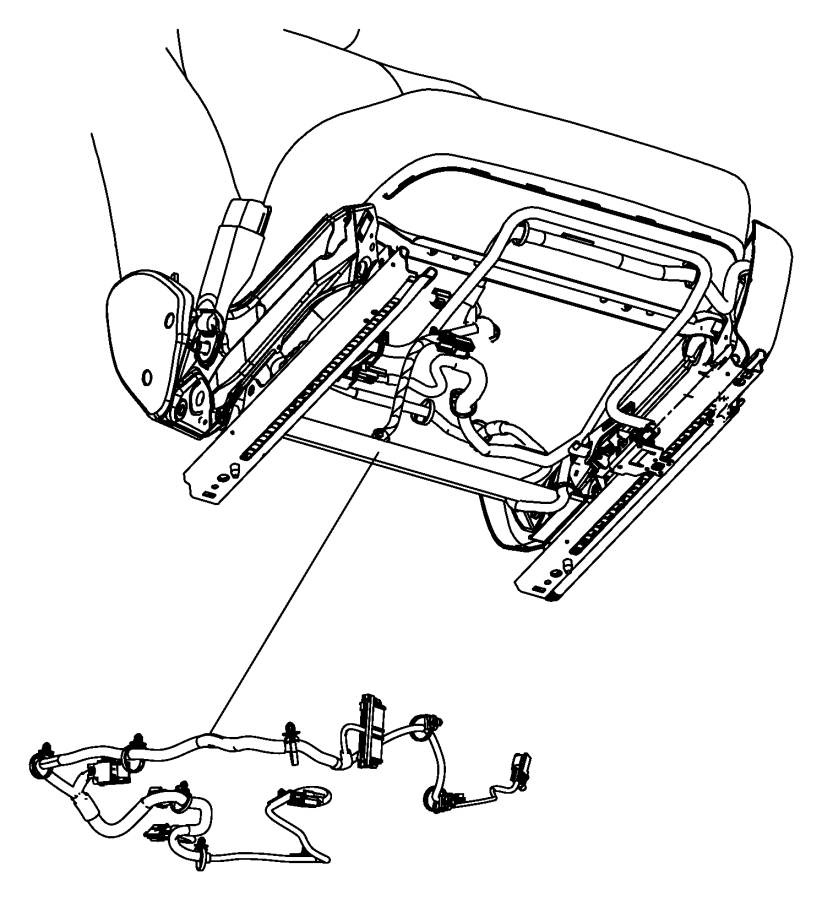 dodge challenger wiring  seat  trim    nl    front  seats