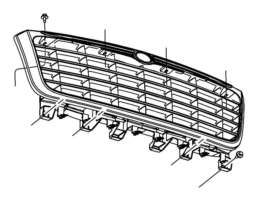 2008 chrysler aspen bracket  grille