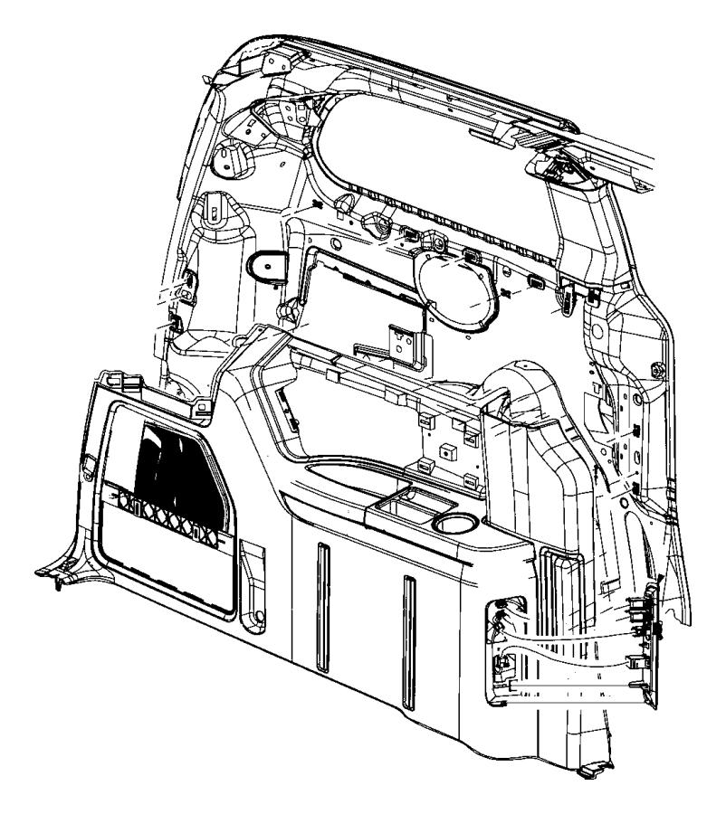2013 dodge grand caravan module  multimedia  lower  upper  trim   all trim codes