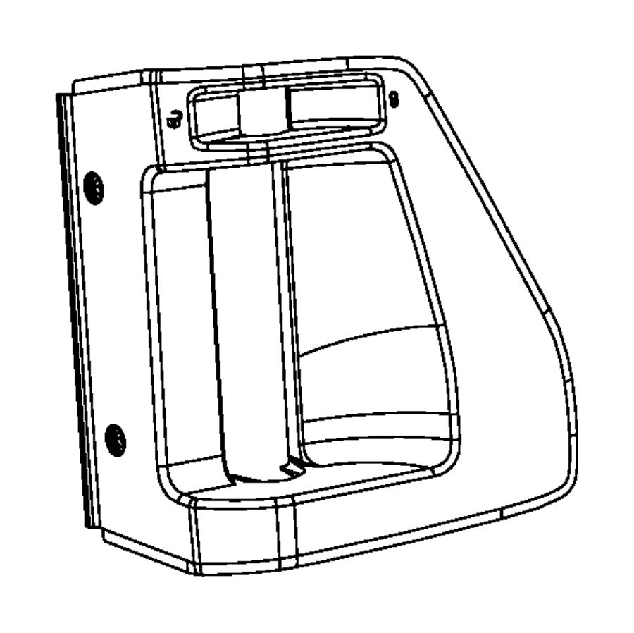 How To Remove Sliding Door Panel On Dodge Caravan: 2009 Dodge Grand Caravan Bezel. Left. Sliding Door. Inside