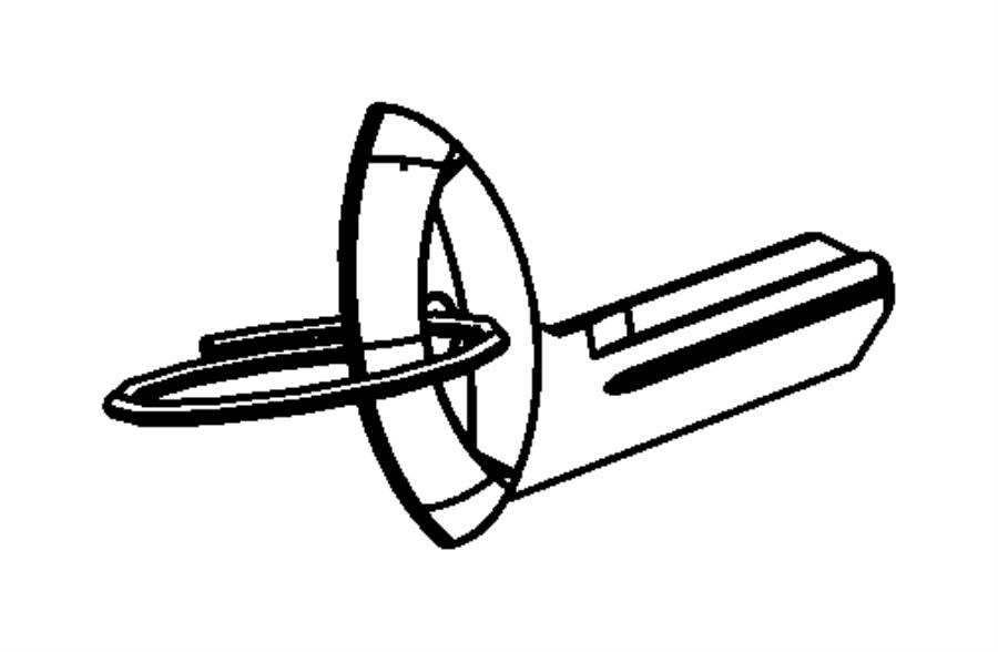 chrysler pt cruiser key  blank  removableconsole