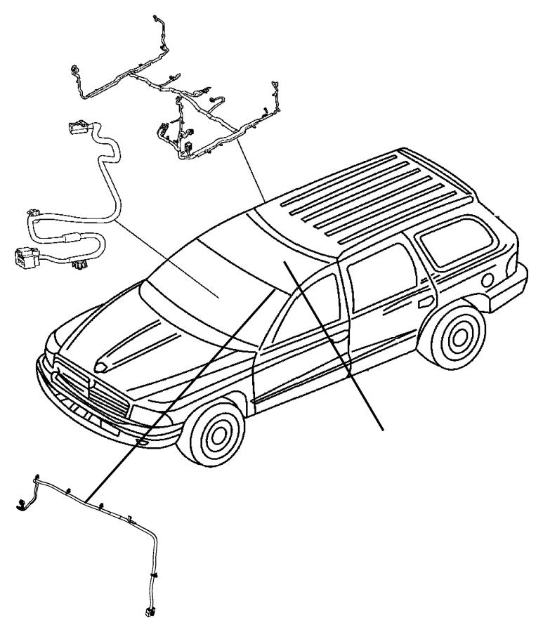 2009 chrysler aspen wiring  body  interior  alpine  air  rear