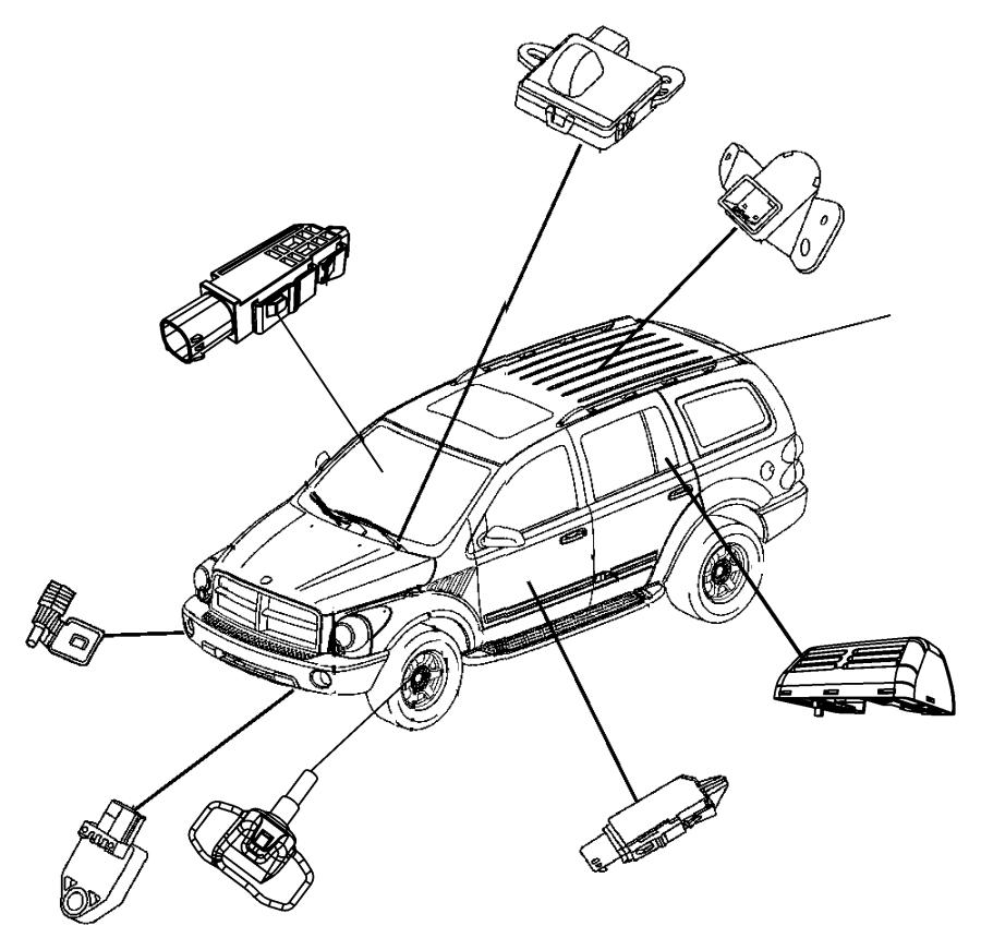 2011 Jeep Liberty Sensor Infrared Trim All Trim Codes