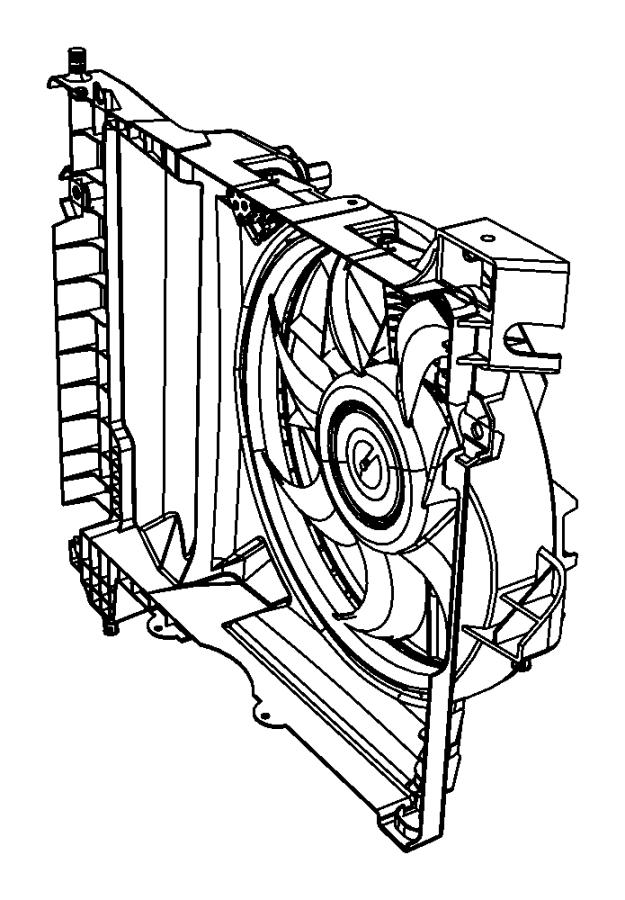 2008 dodge durango fan module  shroud  condenser