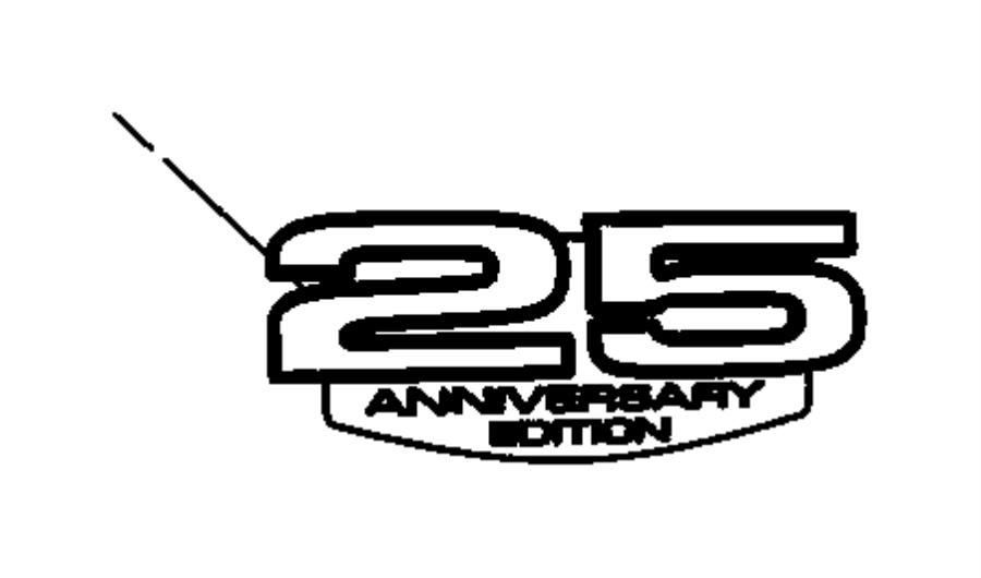2010 chrysler town  u0026 country nameplate  anniversary