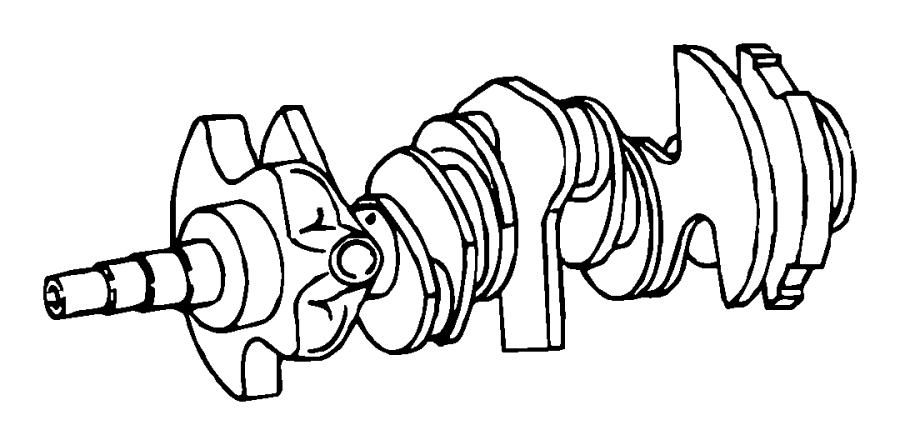 2010 Dodge Grand Caravan Crankshaft  Engine  Damper  Bearings