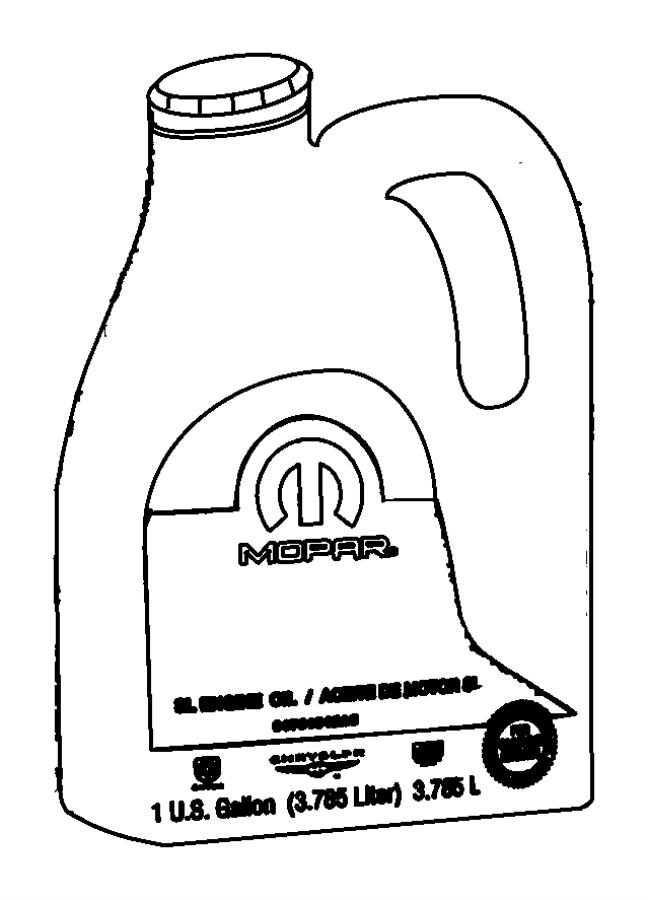 2009 chrysler sebring engine oil  10w30  gallon  minimum
