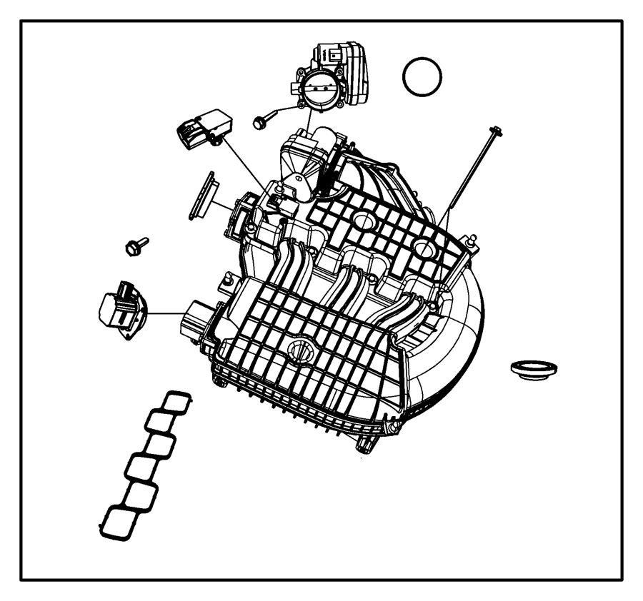 chrysler pacifica plenum  intake manifold