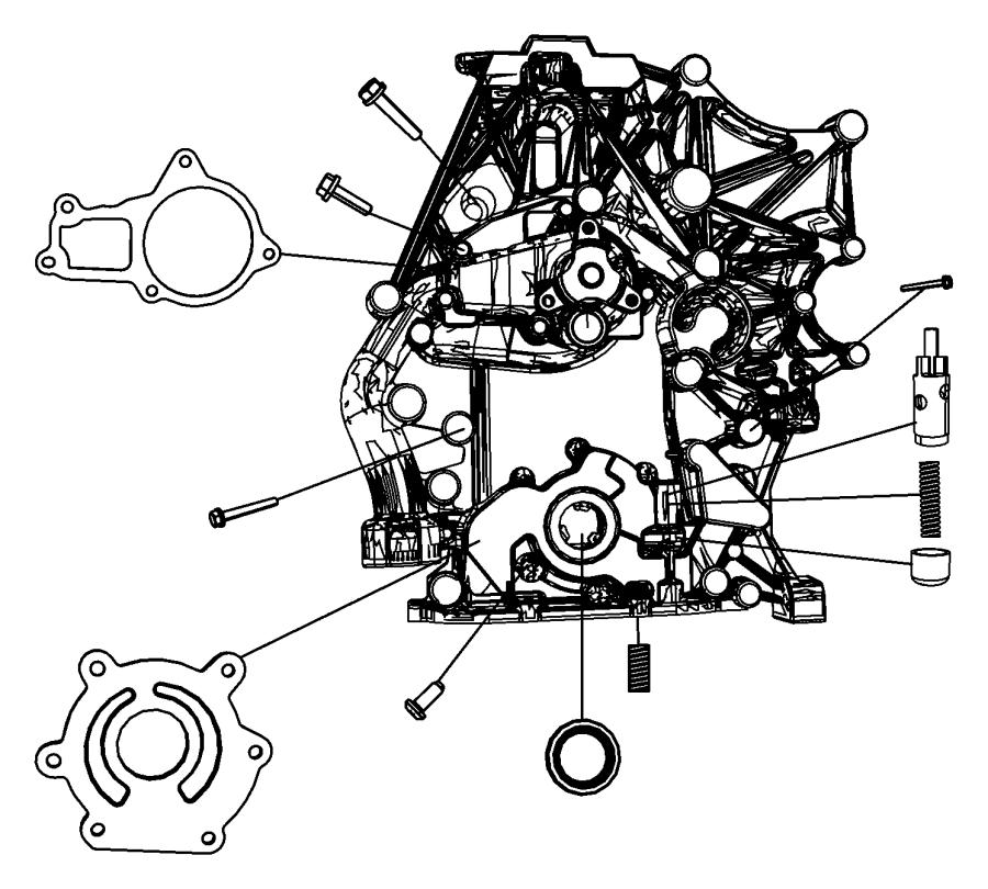 Dodge Grand Caravan Pump  Water  Engine  Ohv  Timing