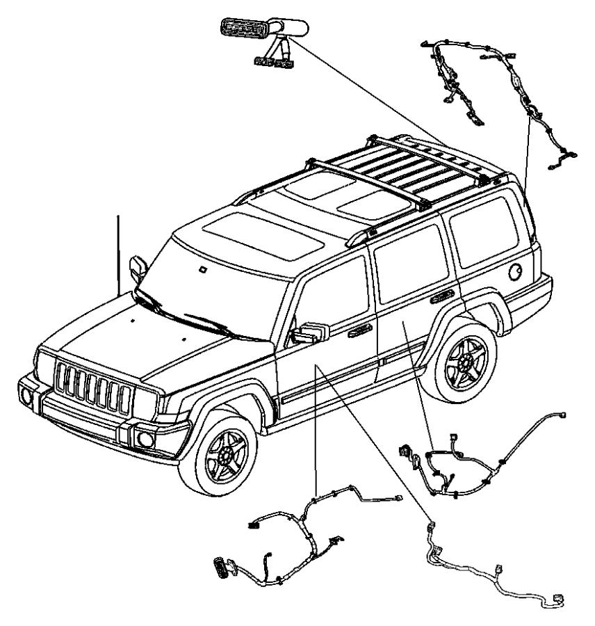 2006 jeep commander wiring liftgate base back camera. Black Bedroom Furniture Sets. Home Design Ideas