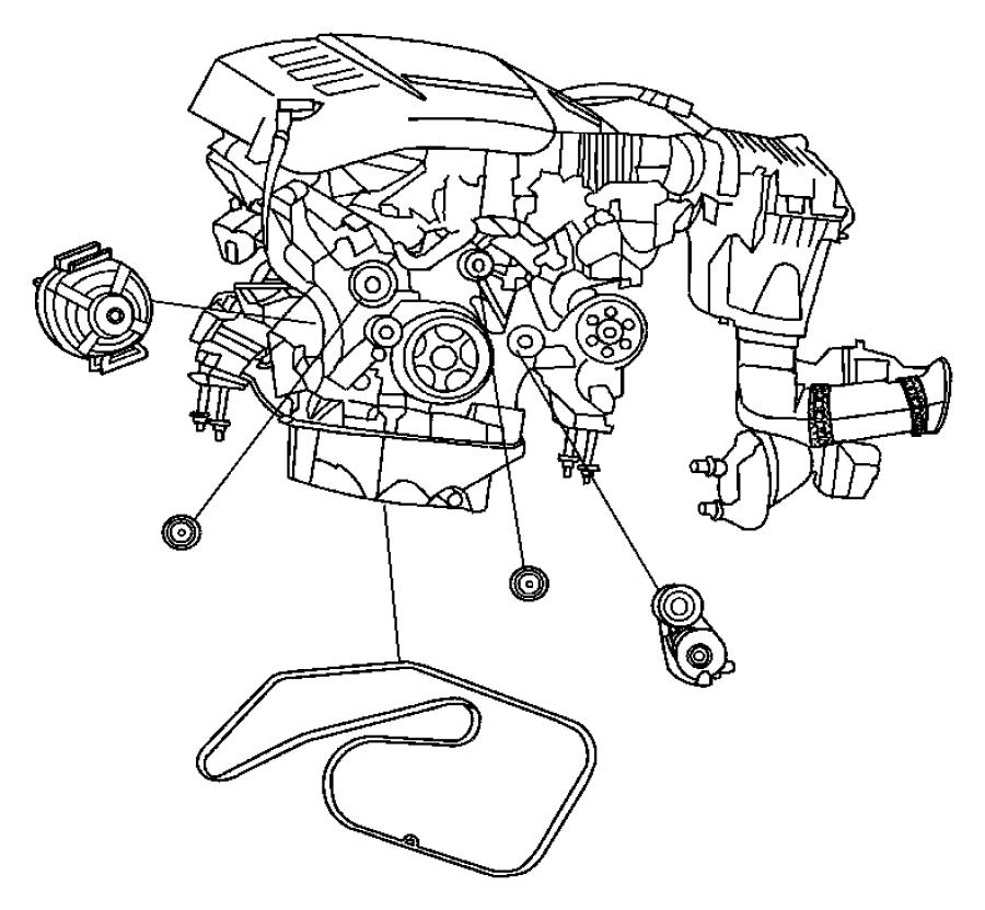 2007 Dodge SPRINTER 3500 Belt. Serpentine. With [air