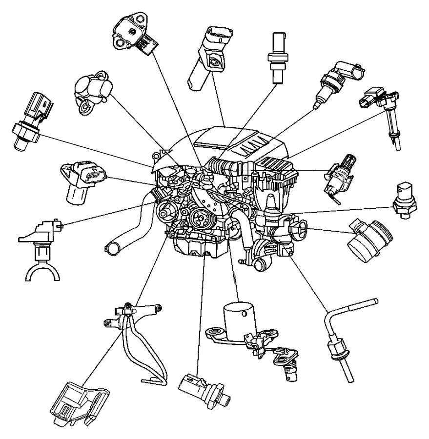 2006 Dodge Sprinter 2500 Sensor  Map  Engine  Sensors