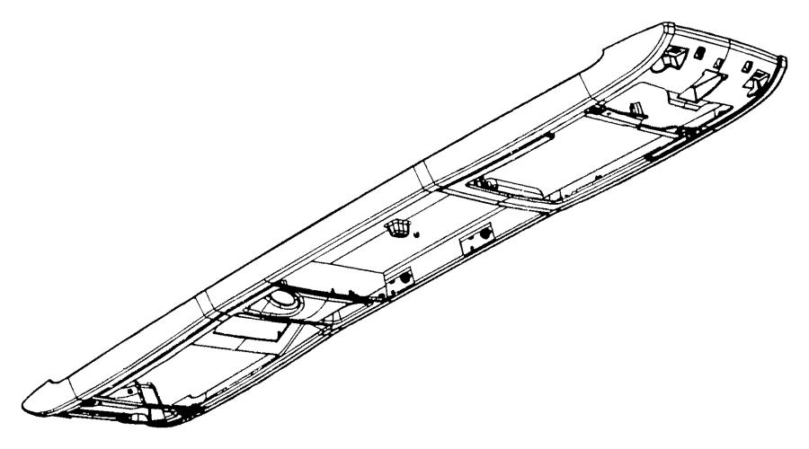 2009 dodge grand caravan console  overhead  trim    o0