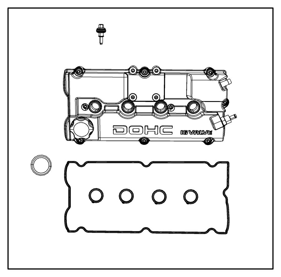 2001 chrysler pt cruiser gasket  cylinder head cover