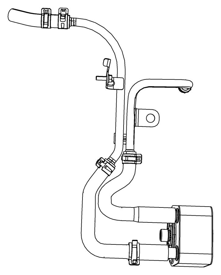 2008 chrysler pt cruiser tube  return  oil cooler  engine