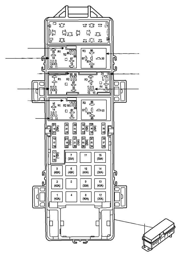 04692141aa jeep relay mini export power  distribution