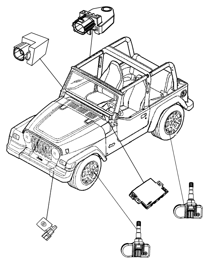 2008 jeep compass sensor  impact