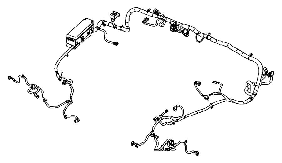 2009 jeep wrangler wiring  dash   trailer tow group   headlamp