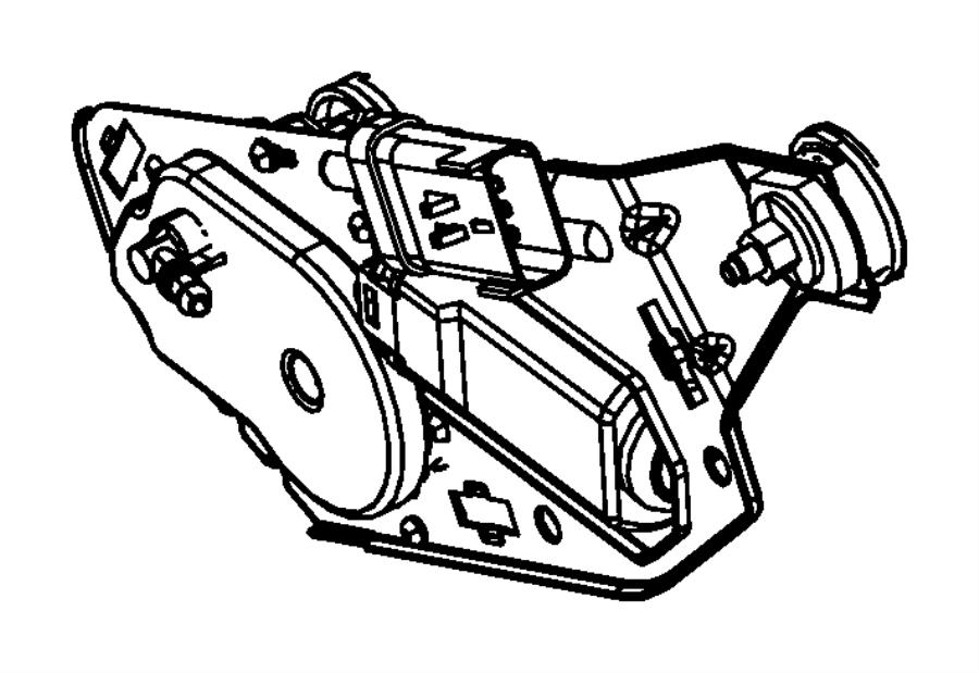 2014 jeep wrangler motor  liftgate wiper  rear window