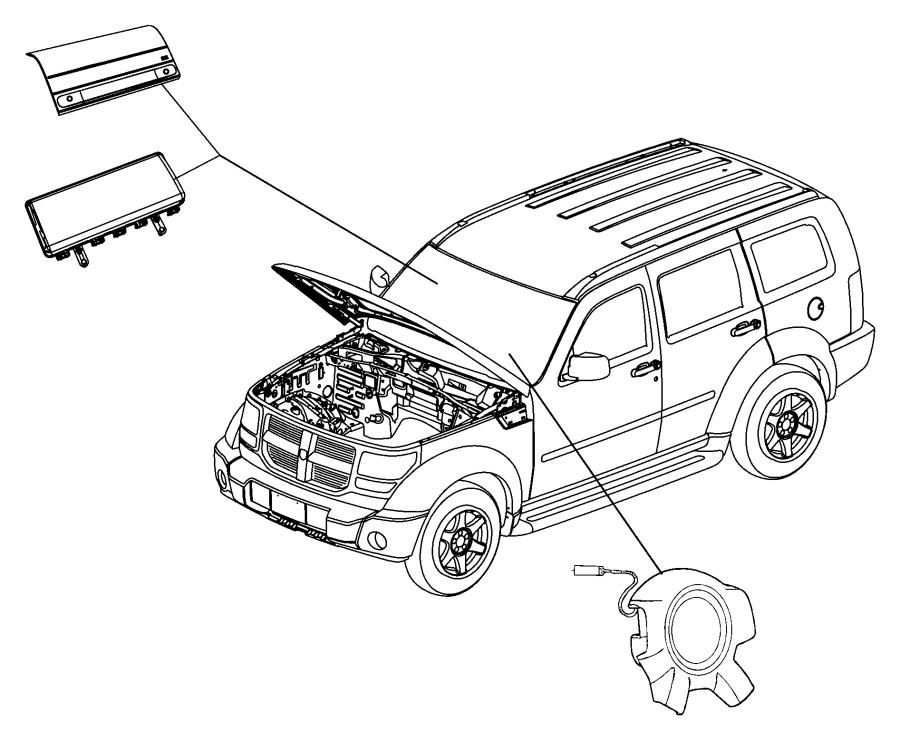 2009 jeep liberty air bag  driver  trim   all trim codes