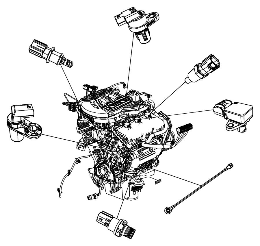 2009 Dodge Challenger Sensor. Camshaft. Swirl