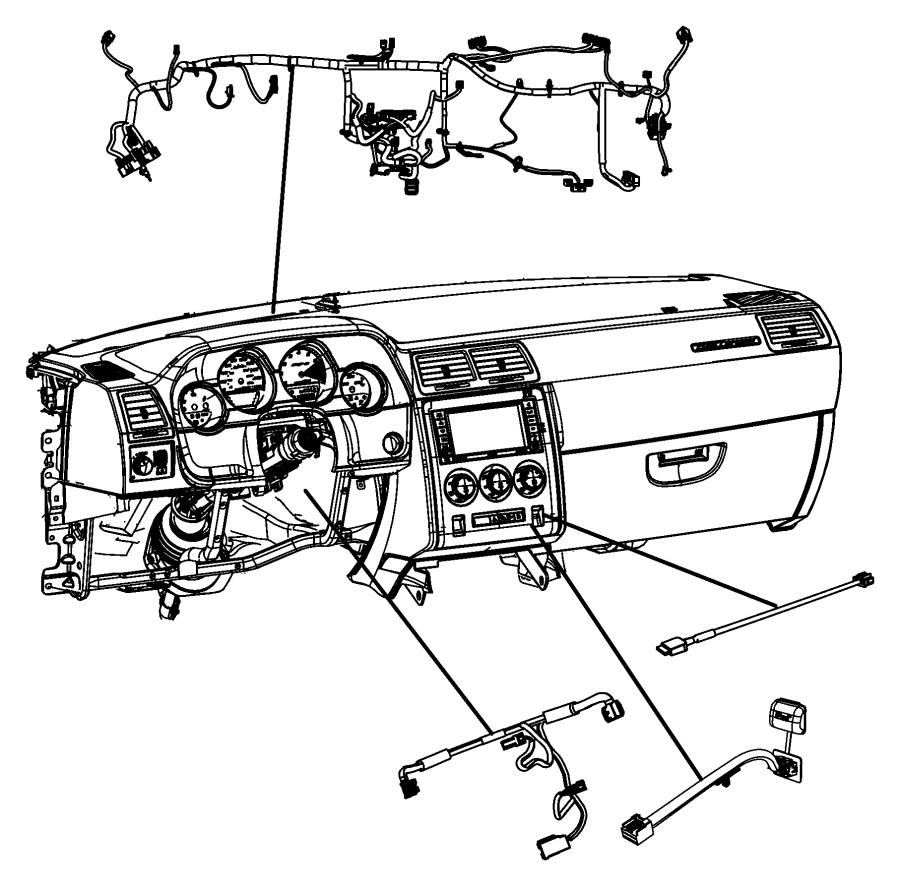 2009 dodge challenger wiring  instrument panel