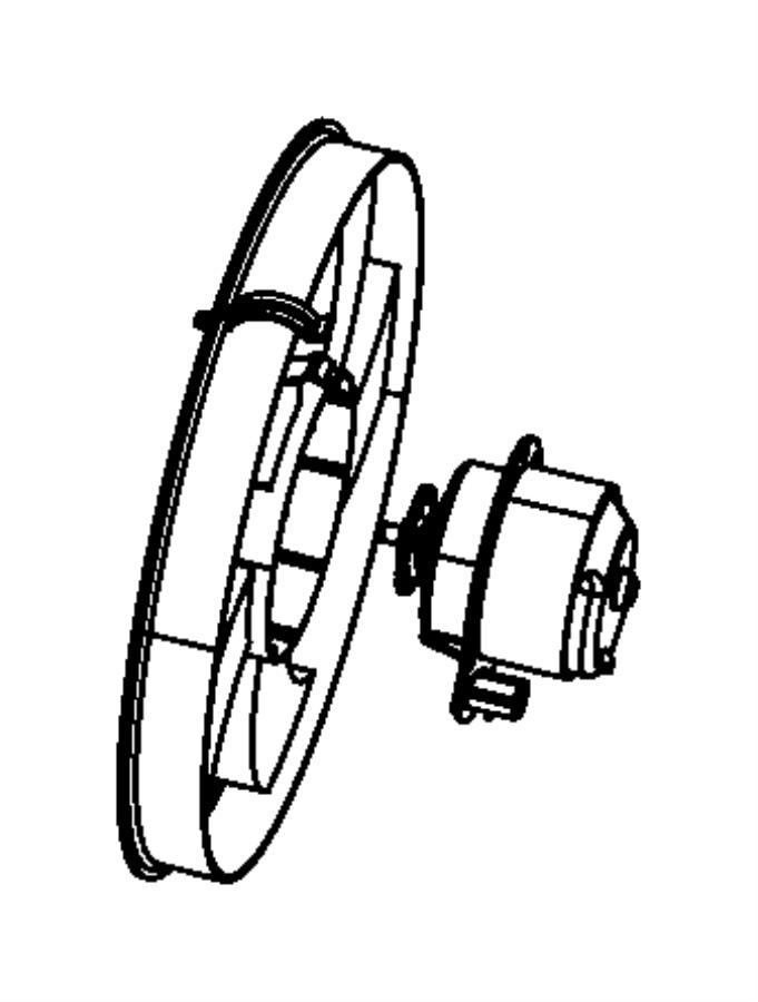 2012 Dodge Caliber Motor  Radiator Fan  Left  Right