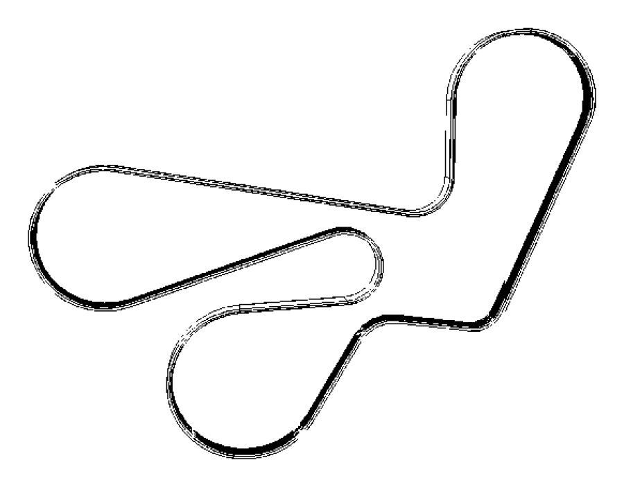 2009 Dodge Caliber Belt  Accessory Drive  Serpentine