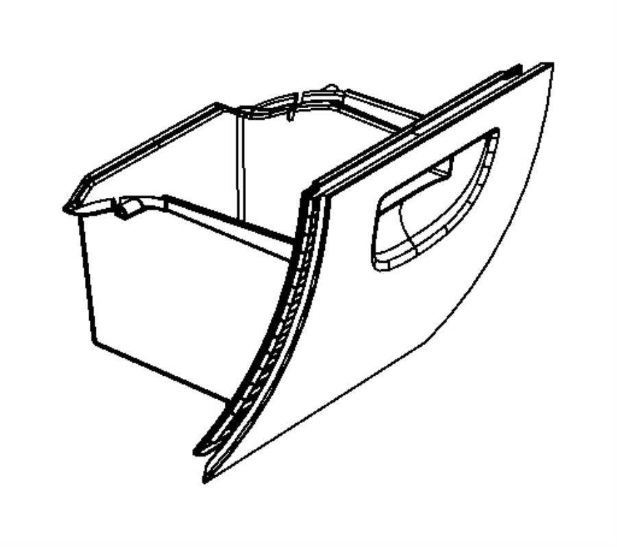 2009 jeep wrangler glove box  instrument panel  trim   all