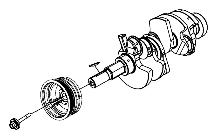 2015 dodge dart key  crankshaft sprocket  bearings  damper