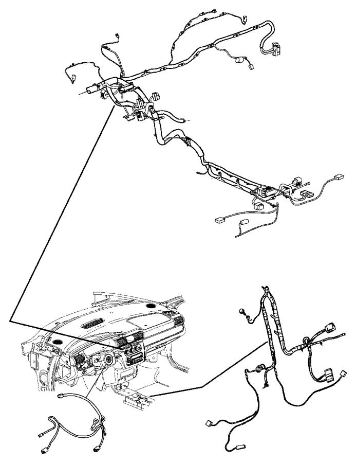 2008 dodge avenger wiring  instrument panel  nav  free