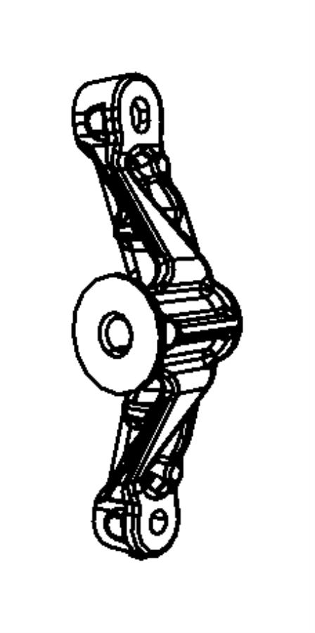 2009 dodge ram 2500 bracket  idler pulley   heater