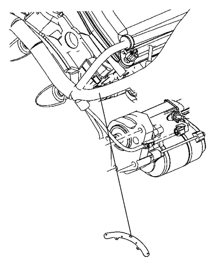 2010 dodge challenger bracket  wiring harness  starter  engine  hemi