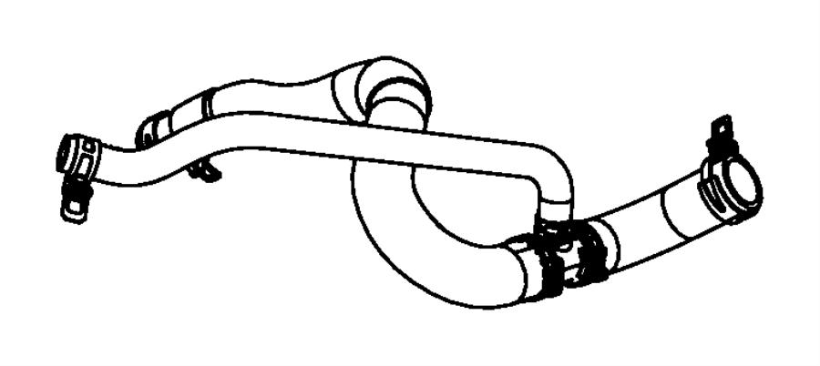 2014 dodge avenger hose  radiator outlet  engine  cooling  cooler