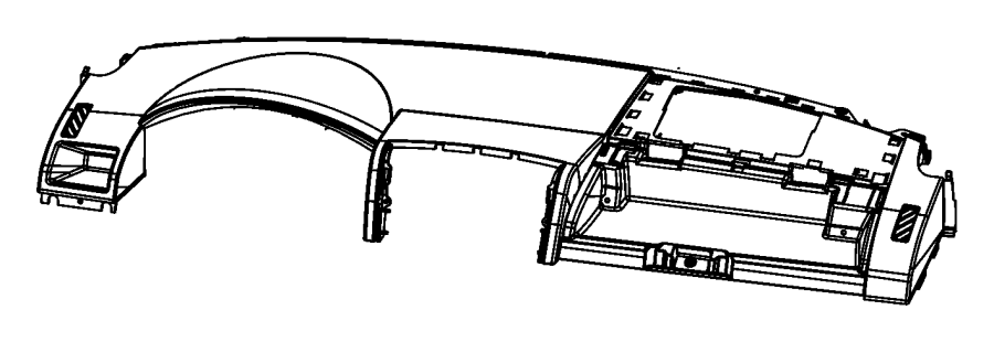 2008 dodge caliber cover  instrument panel  trim   all