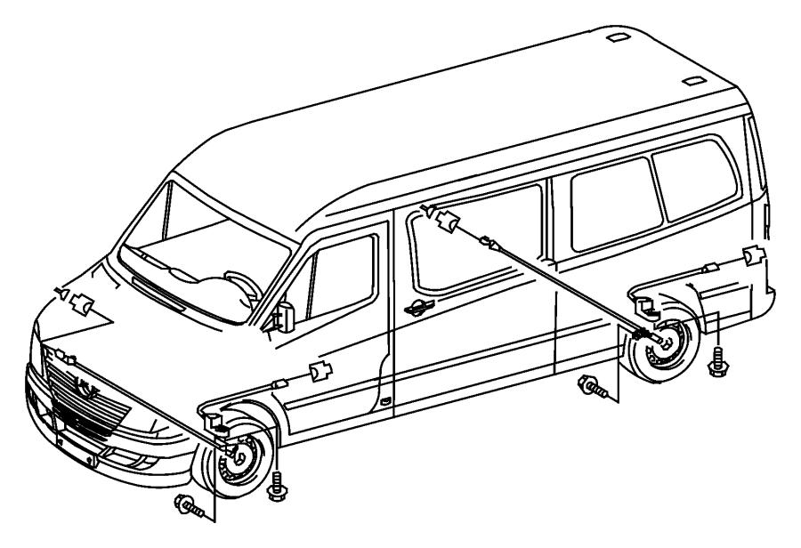 2008 Dodge Sprinter 2500 Wiring  Brake Indicator  On Rear