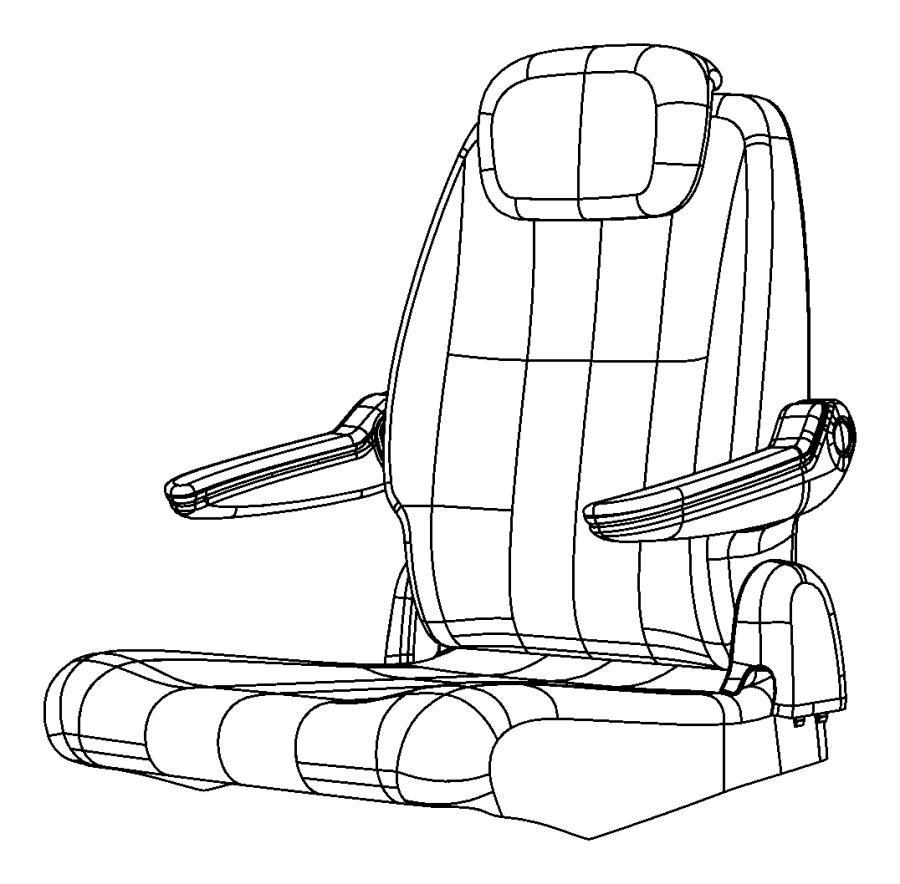 2008 chrysler town  u0026 country foam  seat cushion  trim