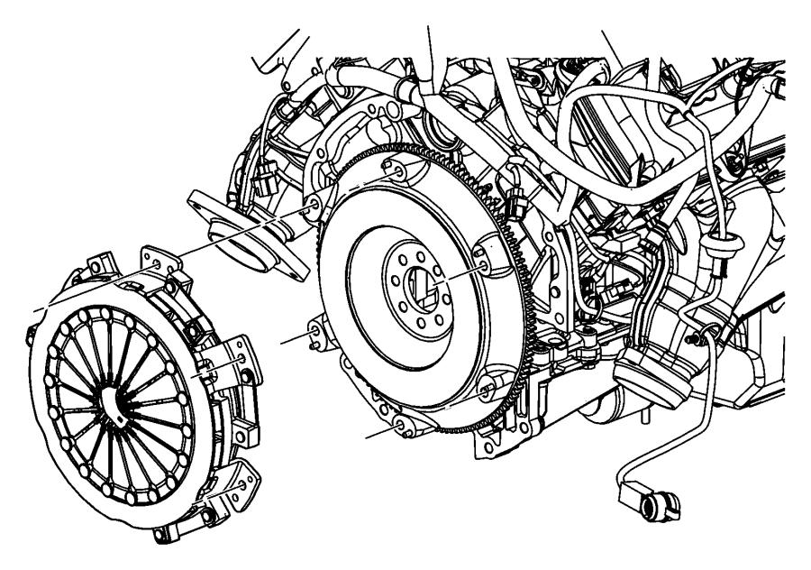 2010 dodge challenger flywheel  mounting  manual