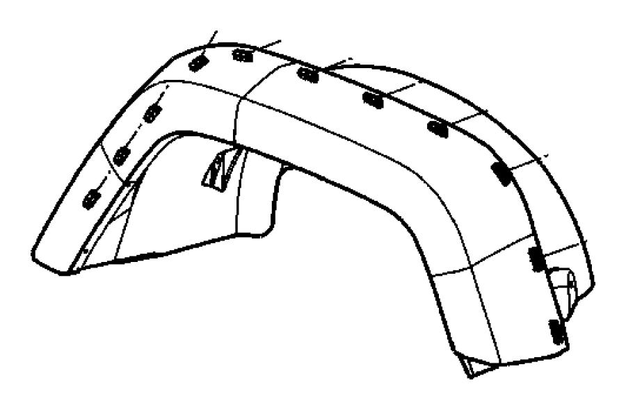 2009 jeep wrangler clip  applique  arrow head   body color