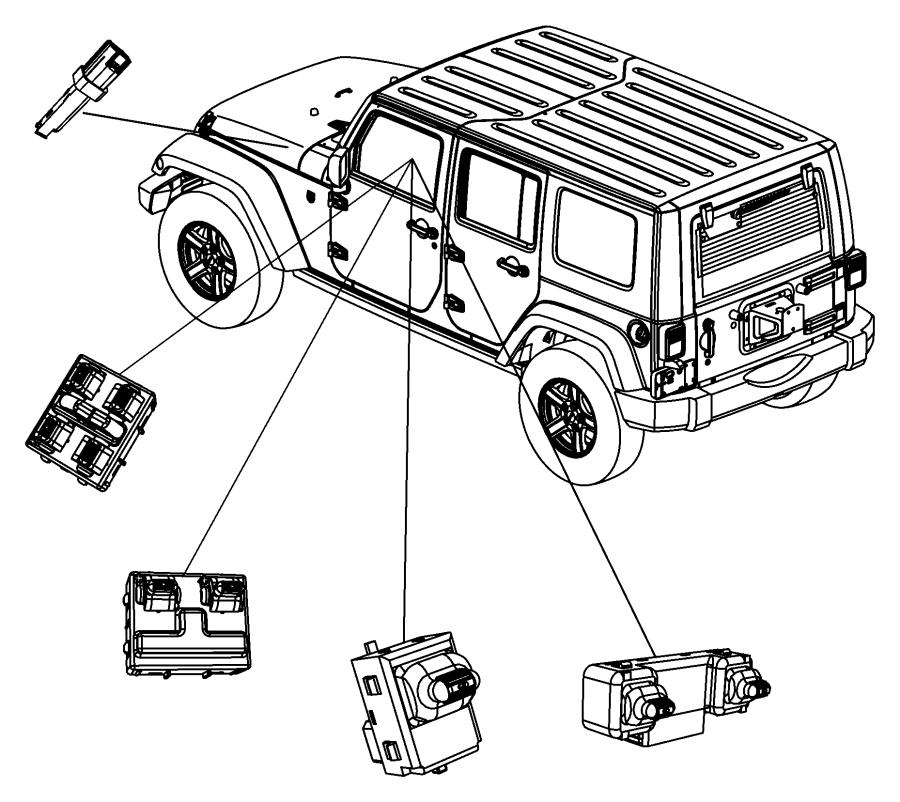 2010 jeep wrangler switch  power window  2 gang