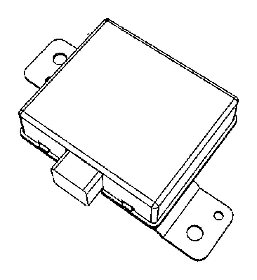 2009 jeep wrangler module  alarm  security  instrument
