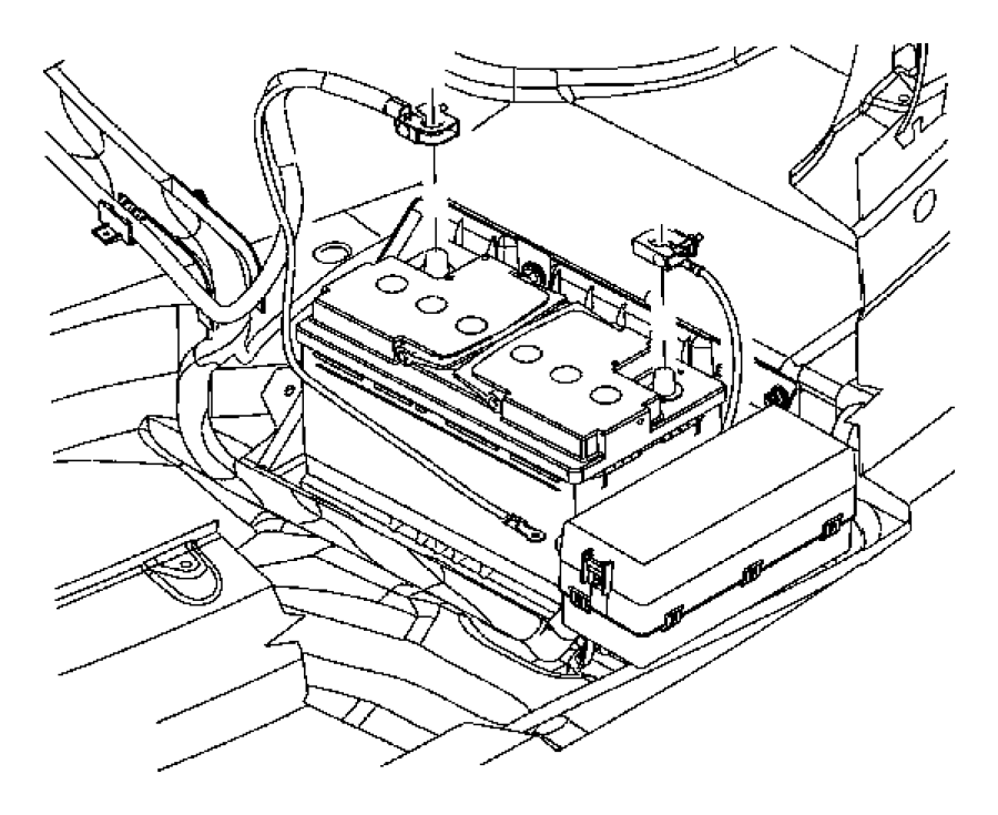 dodge magnum wiring  battery negative  tray