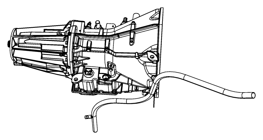 2005 chrysler 300 tube  transmission oil filler  after  08  02  04   includes cap