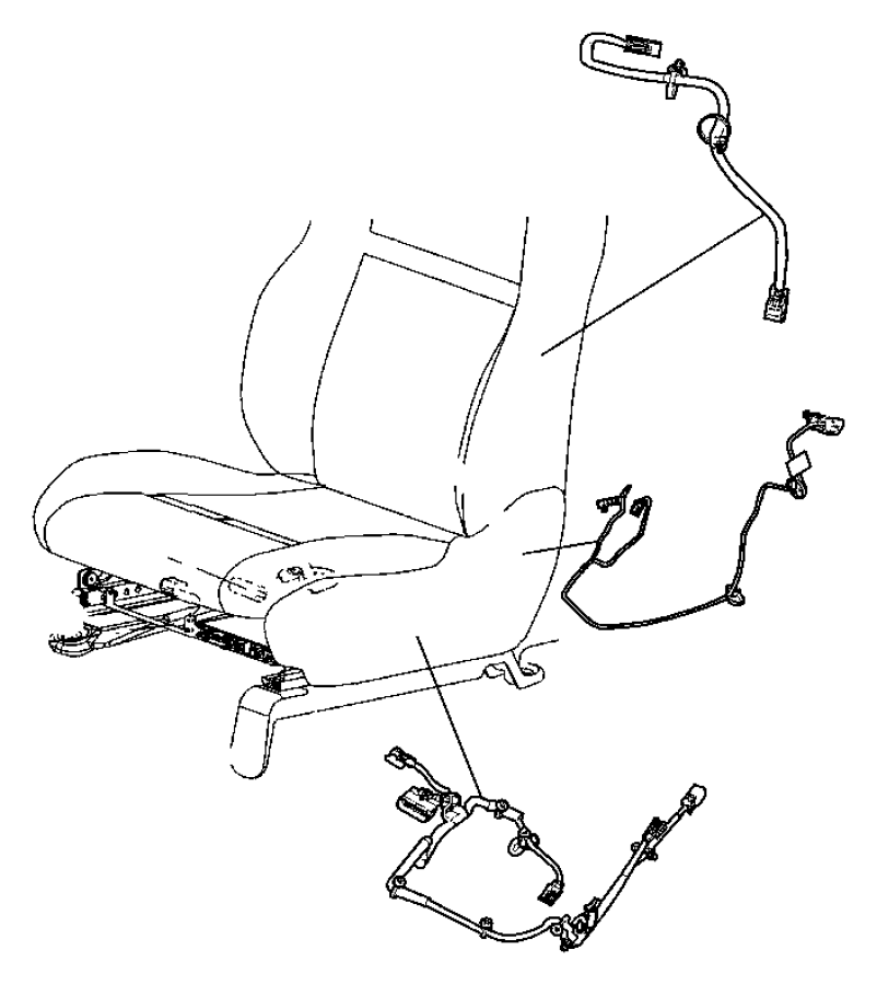 2009 dodge grand caravan wiring  power seat  trim   lux leather trimmed bucket seats