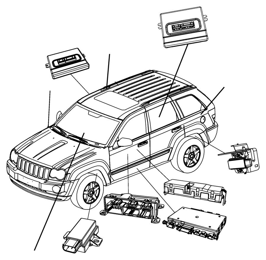 2008 jeep grand cherokee module  tire pressure monitoring