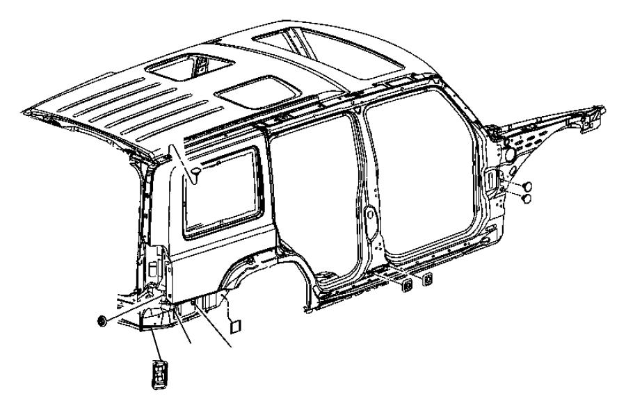 2008 dodge nitro exhauster  bodyside aperture  right  used
