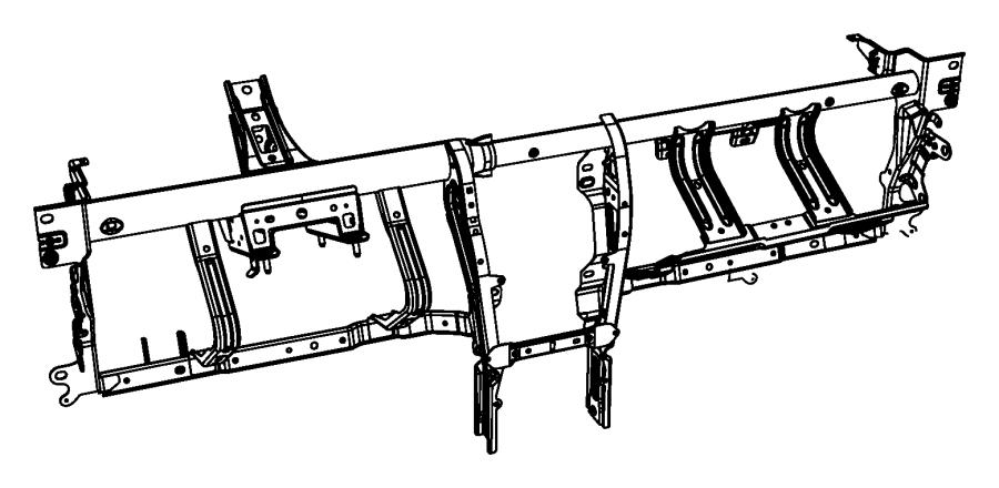 2010 Chrysler Sebring Reinforcement Instrument Panel
