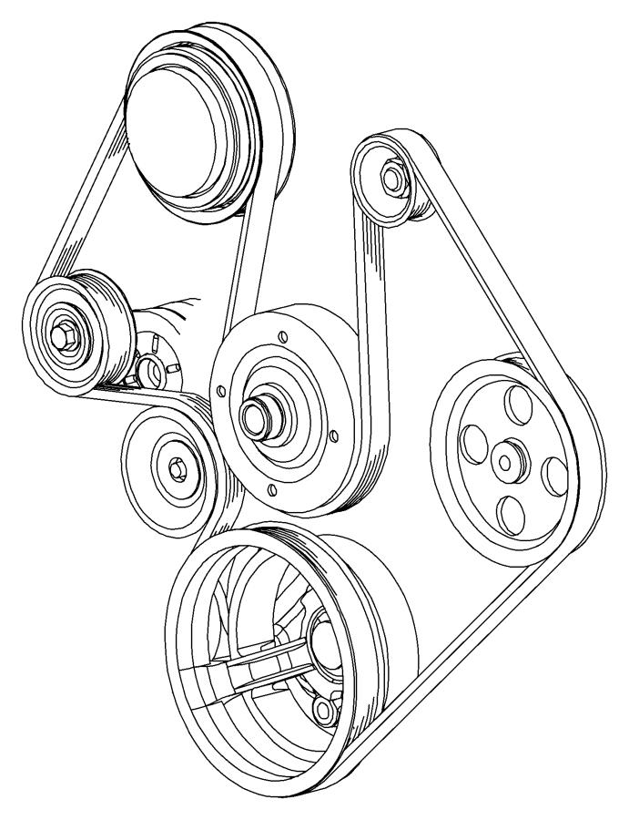 2011 Dodge Ram 1500 Tensioner  Belt   4 7l V8 Engine