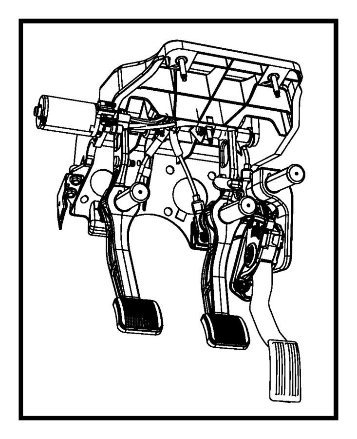 dodge ram 2500 pedal assembly  adjustable  used for  brake