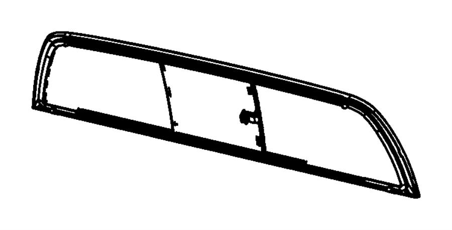 2007 dodge dakota glass  backlite  sliding  window  rear